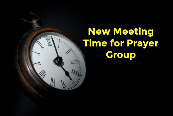 Change in Weds. AM Prayer Time