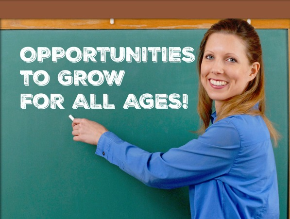New Christian Ed. Opportunities for All Ages
